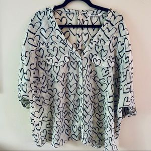 Daniel Rainn Heart Blouse